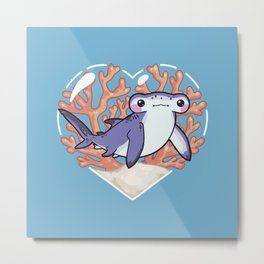 NIBBLE the Hammerhead Shark Metal Print
