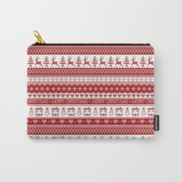 Nordic fair isle Christmas pattern Carry-All Pouch