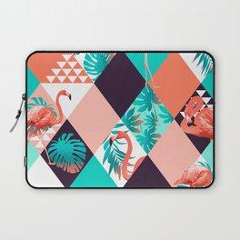 Geometric Tropical Flamingos I Laptop Sleeve