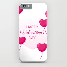 Balloon heart for Valentine's day iPhone Case