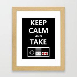 Keep Calm and Take Control Framed Art Print