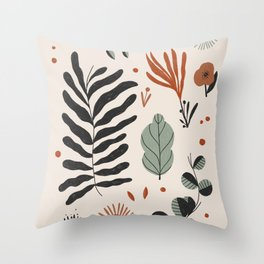 Organic Plants Throw Pillow