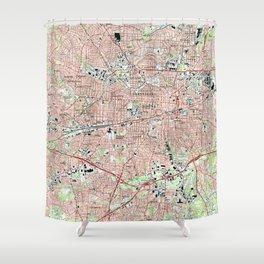 Greensboro North Carolina Map (1997) Shower Curtain