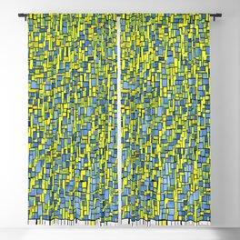 water (techno pixels) Blackout Curtain