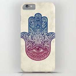 Talk To The Hamsa iPhone Case