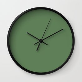 Botanical Meadow Green Solid Color Pairs To Sherwin Williams Garden Grove SW 6445 Wall Clock