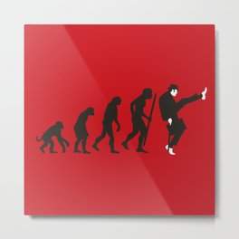 Evolution of silly walks Metal Print