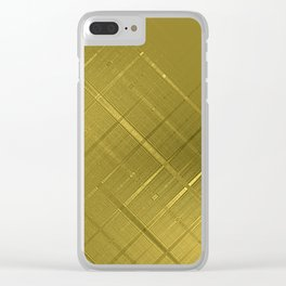 Diagonal Shimmer Streaks Clear iPhone Case