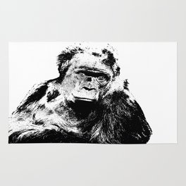 Gorilla In A Pensive Mood Portrait #decor #society6 Rug