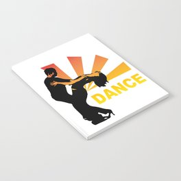 dancing couple silhouette - brazilian zouk Notebook