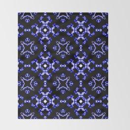 Blue Bandana Pattern Throw Blanket