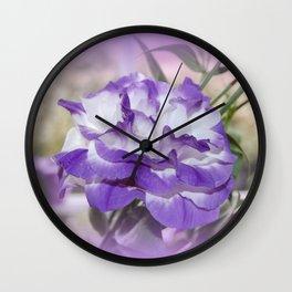 Flower In A Haze Wall Clock