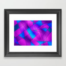 ABSTRACT LINES #1 (Purples, Violets, Fuchsias & Turquoises) Framed Art Print