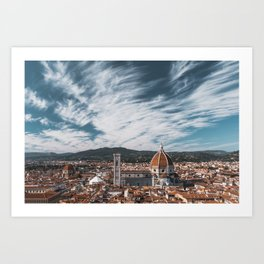 Florence Italy Cityscape Art Print