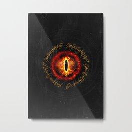 lord rings Eye Scripture Metal Print