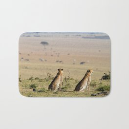 Two cheetahs on the look out Bath Mat