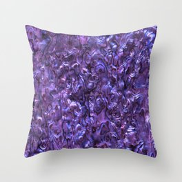 Abalone Shell | Paua Shell | Sea Shells | Patterns in Nature | Violet Tint | Throw Pillow