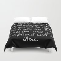 friendship Duvet Covers featuring Friendship by Anna Stassen