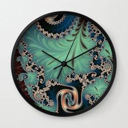 Azure - Fractal Art Wall Clock