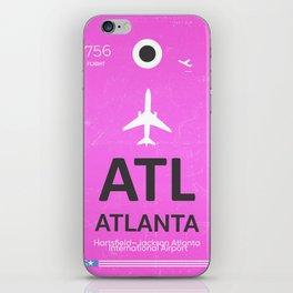 Airport code Atlanta iPhone Skin