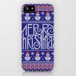 Merry Christmas from Snowman iPhone Case