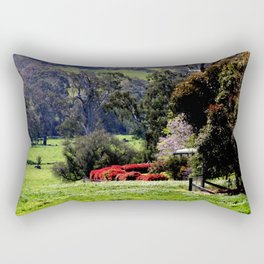 Farm house nestled in the high Country - Australia Rectangular Pillow