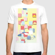 WHOFARTED? Mens Fitted Tee White MEDIUM