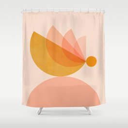 Abstraction_BIRD_Balance_Mountains_Minimalism_001 Shower Curtain