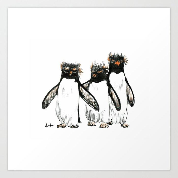 Macaroni Penguin Gang Art Print By Palindrome Society6