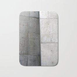 Brutalist Grey Concrete Abstract Bath Mat
