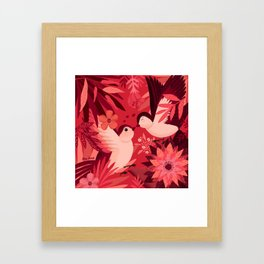 Birds in love Framed Art Print