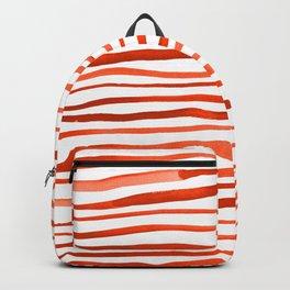 Irregular watercolor lines - orange Backpack