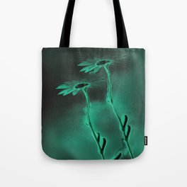 two green daisies Tote Bag