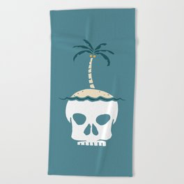 Skull Island – Blue Beach Towel