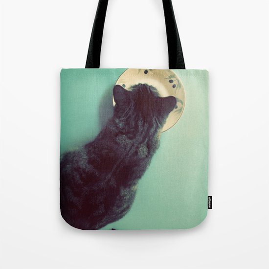 Cat and Saucer Tote Bag