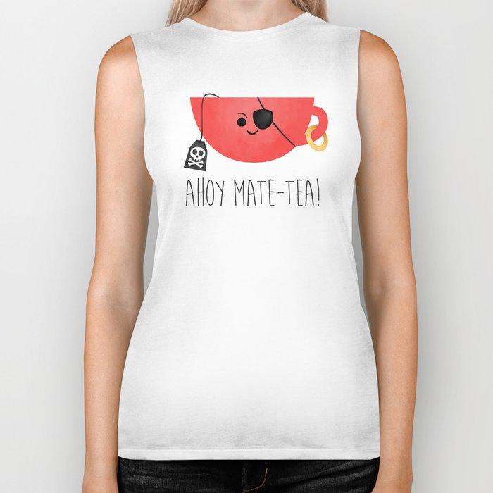 Ahoy Mate-tea! Biker Tank