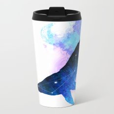 Space Whale | Whale Constellation | Double Exposure Whale Metal Travel Mug