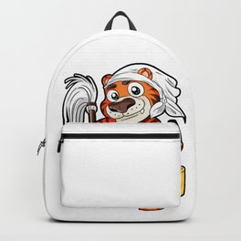 Housework Housekeeping Chores Cleaning Tiger Gift Backpack