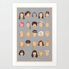 25 FACES OF SCARLETT Art Print