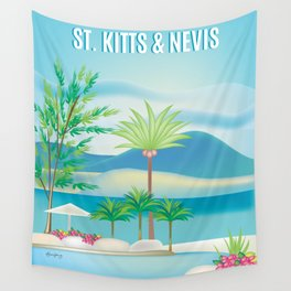 St. Kitts and Nevis - Skyline Illustration by Loose Petals Wall Tapestry