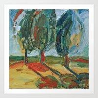 Trees. Art Print