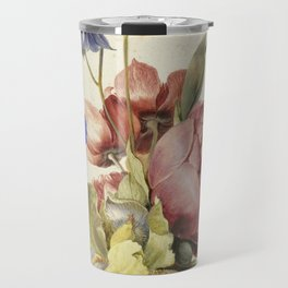 Flowers in a Bottle by Dirck de Bray Travel Mug