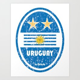 World Cup Football 4/8 - Uruguay (Distressed) Art Print
