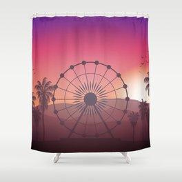 Festival Inspired Sunset Shower Curtain