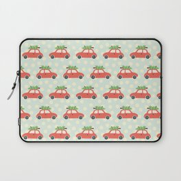Christmas Tree Cars Red Laptop Sleeve
