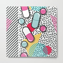 Pills pattern 018 Metal Print