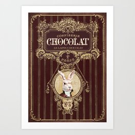 Chocolate rabbit Art Print