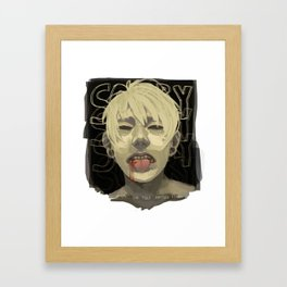 Cut on the Dotted Line Framed Art Print