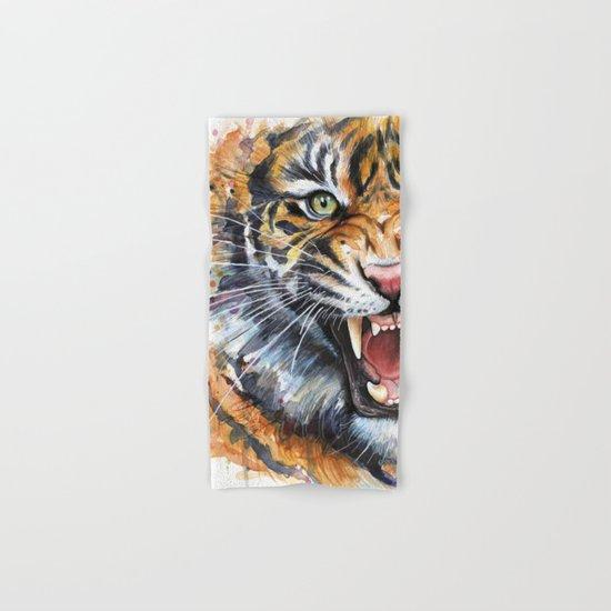 Tiger Hand & Bath Towel