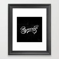 Bucuresti/Bucharest lettering Framed Art Print